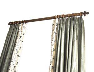 Sage Floral Silk Curtain Panels Set of 4