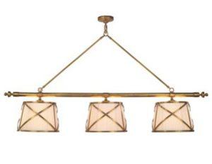 Visual Comfort E. F. Chapman Grosvenor Linear Triple Pendant