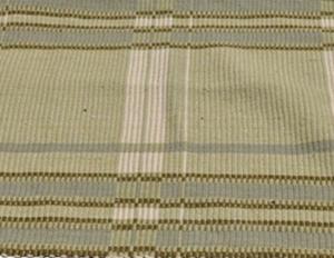 10.5 x 12 Green Handwoven Indian Weave Rug