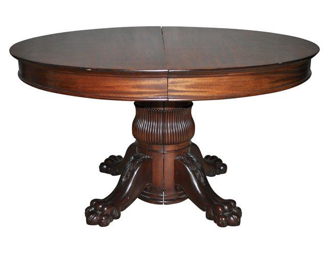 Antique Split Pedestal Dining Table The Local Vault