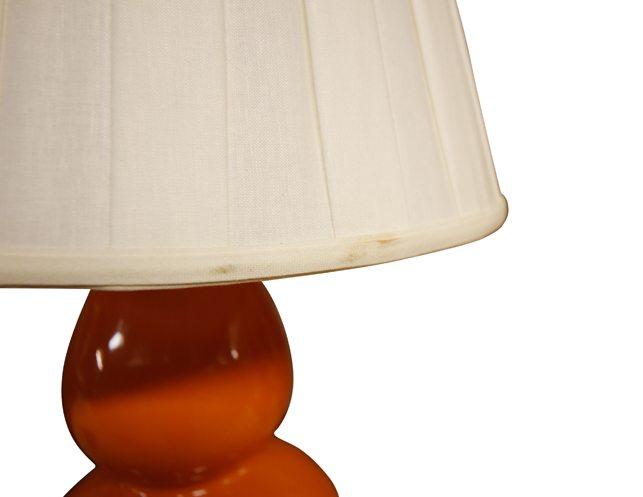 Previous; Next  sc 1 st  The Local Vault & Robert Allen Pair of Orange Double Gourd Lamps | The Local Vault