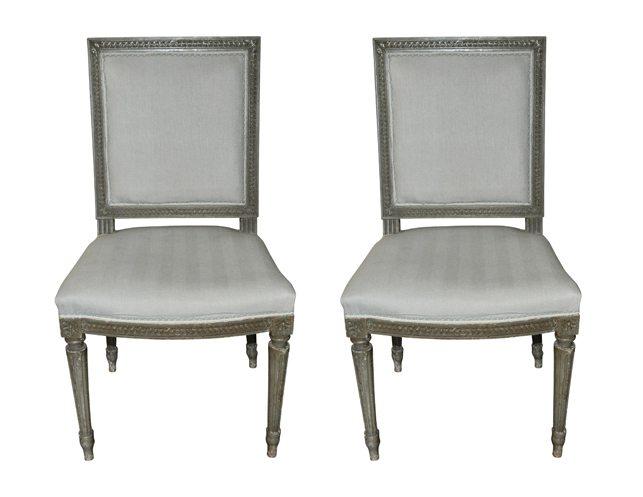 ... Antique Louis XVI Chairs Go Back. Previous; Next - Pair Of French Painted Antique Louis XVI Chairs The Local Vault