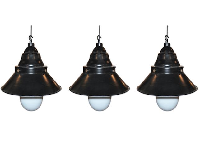 Restoration Hardware Industrial Pendant Lights, Set of 3