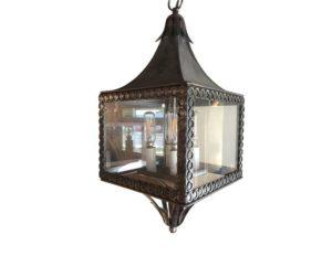 Vintage Square Four Light Steel Lantern