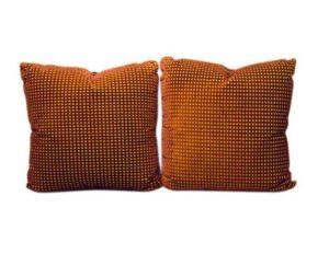 Oxblood Cut Velvet Pillows