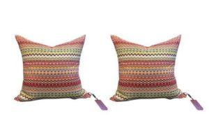 22″ Missoni Home Silk Pillows, Pair