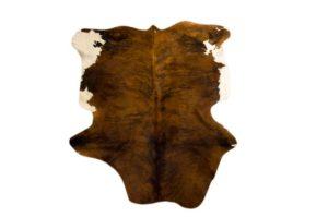 Saddleman Cow Hide, Dark Brown and White