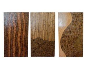 Geometric Wood Panels, Set of 3