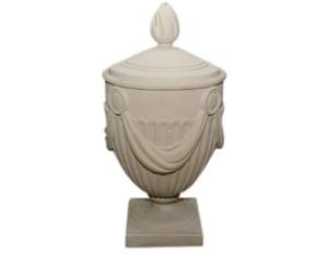 Roman Style Decorative Clay Lidded Urn