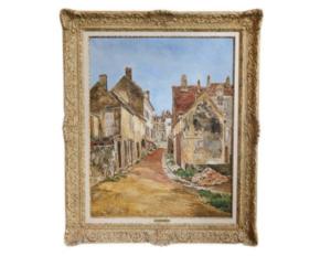 Marcel François Leprin Signed Oil Painting