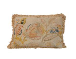 Kentshire Leaf Tapestry with Fringe Border Pillow