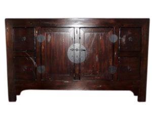 Dark Brown Chinese Sideboard Buffet