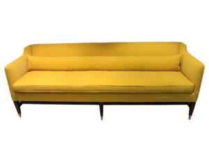 Edward Ferrell + Lewis Mittman Yellow Mohair Raleigh Sofa
