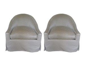 Edward Ferrell + Lewis Mittman Swivel Chair, Pair
