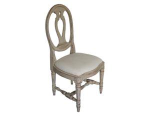 Gustavian Style Cream Desk Chair