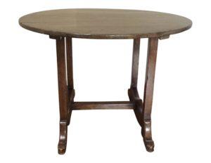 42″Round Walnut Trestle Table