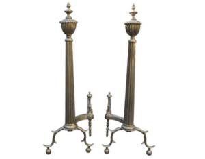 19th Century American Brass Andirons