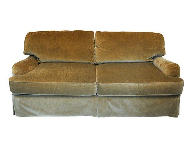Henredon Fowler Sofa In Moss Green Velvet