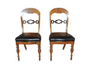 Karl Johan Swedish Antique Side Chairs