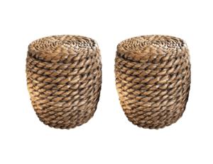 Natural Woven Stools