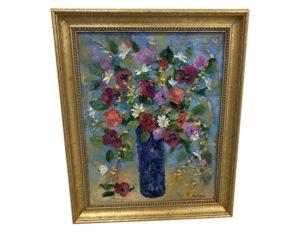 Allison Kibbe  Oil on Canvas, Flowers in Vase