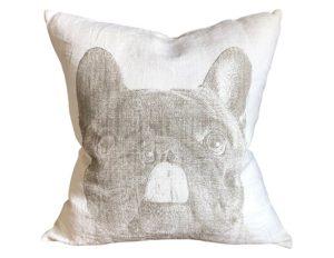 Pine Cone Hill French Bulldog White Decorative Pillow