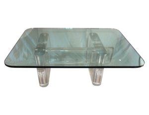 Karl Springer Lucite Table, Signed