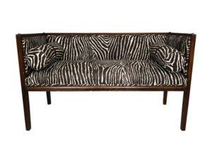 Zebra Print Settee