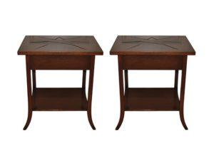 Niermann Weeks Parquet Side Tables