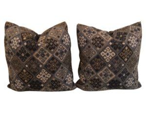Lillian August Blue Kilim Pillows