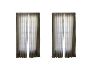 Cowtan & Tout Window Treatments with Morgik Rods, Set of 2 Pairs