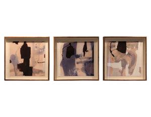 Set of 3 Works Embellished on Handmade Paper, Limited Edition
