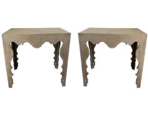 Tara Shaw Swedish Rococo Console Tables, Pair