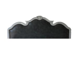 Custom Grey Leather King Headboard