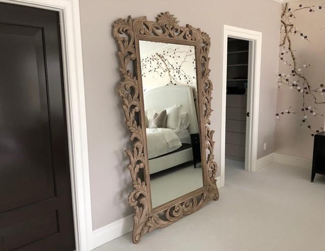 Restoration Hardware Rococo Leaner Mirror | The Local Vault
