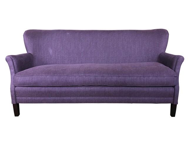 Incredible Lillian August Couture Purple Linen Loveseat Lamtechconsult Wood Chair Design Ideas Lamtechconsultcom