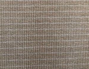 4 x 8 Beige with White Pinstripe Wool Rug