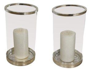 Ralph Lauren Modern Glass Hurricanes