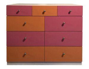 Pink & Orange Dresser