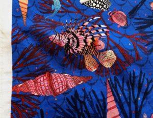 Seascape Printed Cotton Beach Blanket