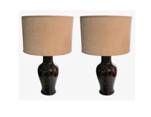 Vaughan Fishtail Tortoiseshell Table Lamps