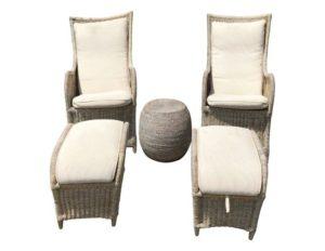 Outdoor Wicker Chair Set