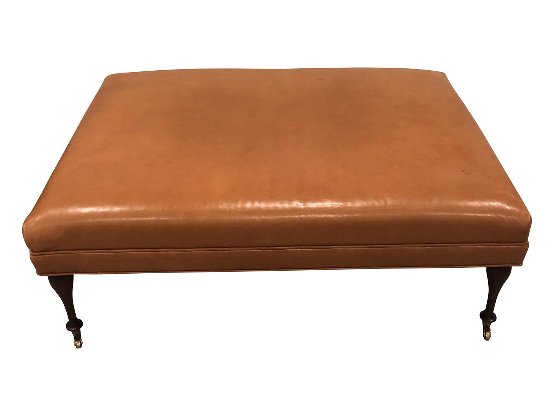 Brilliant Charles Stewart Orange Ottoman In Edelman Leather Uwap Interior Chair Design Uwaporg