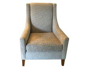 Mitchell Gold + Bob Williams Greek Key Velvet Cara Tall Chair