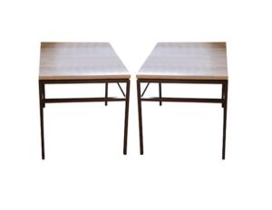 Mitchell Gold + Bob Williams Limestone & Metal Side Tables