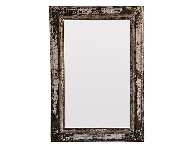 Oversized Distressed Wood Floor Mirror | The Local Vault
