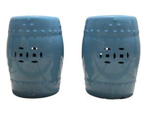 Turquoise Ceramic Garden Seats