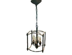 4 Light Black Metal Lantern, 3 Available