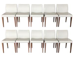 Poltrona Frau Liz B Dining Chairs, Set of 10