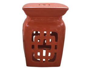 Orange Ceramic Garden Seat